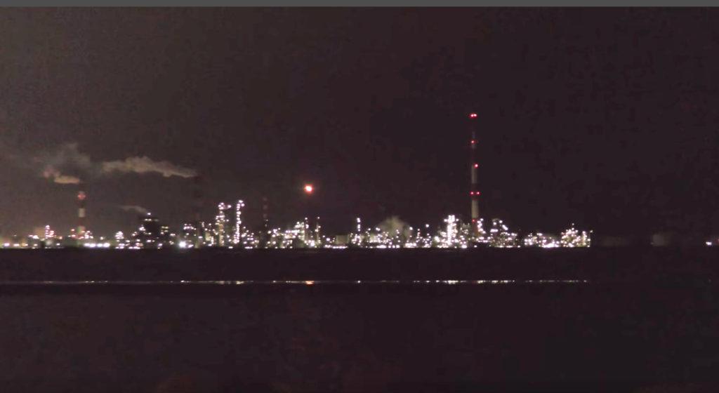 動画:大分 釣りスポット 大野川河口 夜釣りの夜景 通称大在ディズニー YouTube