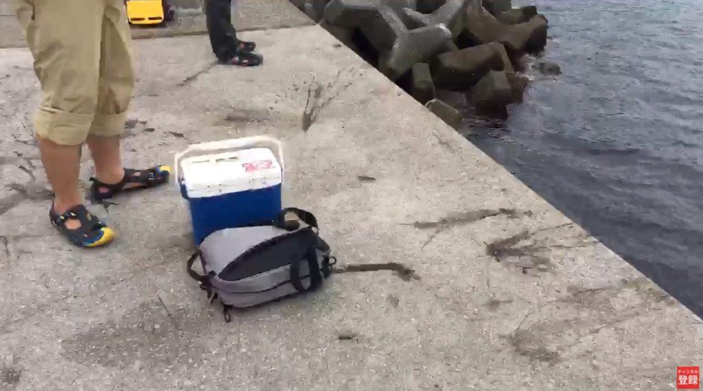 釣り場ライブ配信:アオリイカ 墨の跡が沢山!? 大浜海水浴場